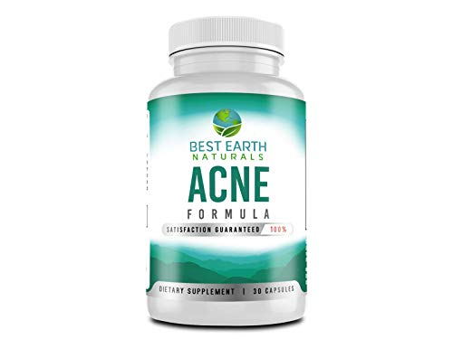 Acne Formula Vitamin Supplement Treatment to Clear Spots on Face and Body Naturally 30 Count