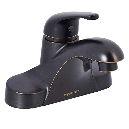 "Classic Single-Handled Basin Faucet - 4"", Oil-Rubbed Bronze"
