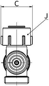 SIMPLEX Module de raccordement /à raccords orientables EQUERRE et DROIT HB VARIOCON U2 MONO et BITUBE pour radiateur /à robinetterie int/égr/ée /à raccord m/âle G3//4 F10027