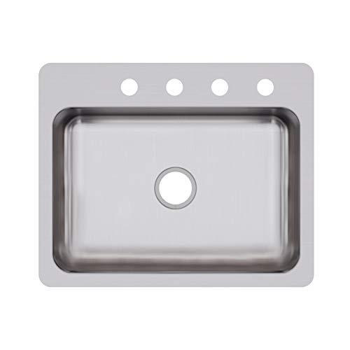Elkay DSESR127224 Dayton Single Bowl Dual Mount Stainless Steel Sink ()