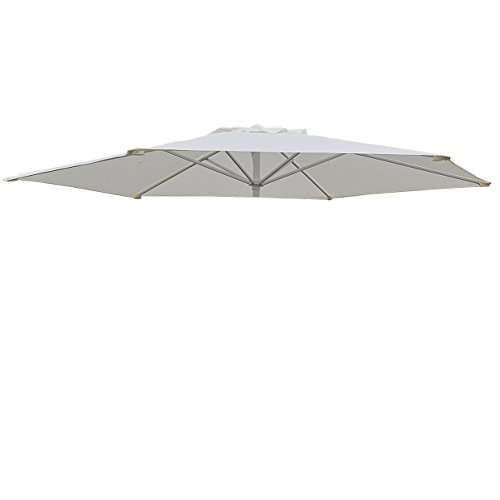 Umbrella Cover Canopy 8.2ft 6 Rib Patio Replacement Top Outdoor-ecru by BenefitUSA