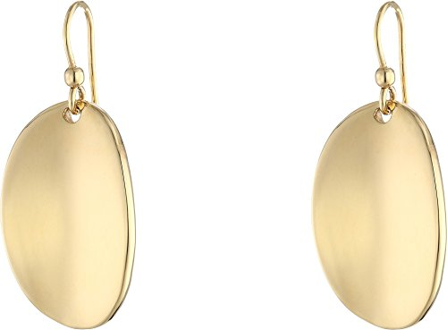 Roberto Coin Women's High Polished Oval Drop Earrings 18k Yellow Gold One Size Roberto Coin 18k Ring