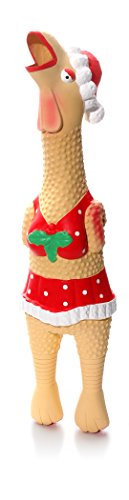 CHARMING Pet Holiday Henrietta Chicken Squeak Toy, Large