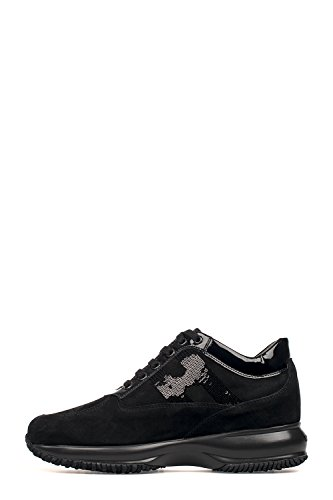 Hogan Sneakers Donna HXW00N0564025Q9999 Camoscio Nero
