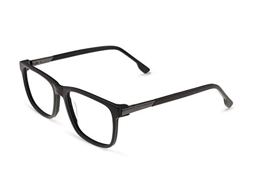 OCCI CHIARI Rectangle Durable Plastic Eyewear Frame With Clear Lenses For Men