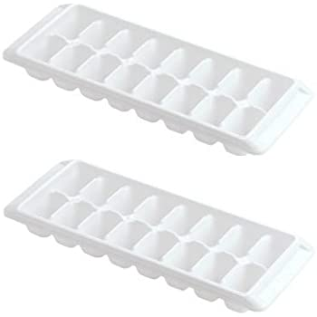 Rubbermaid -White Ice Cube Tray, 16 cube trays (Pack of 2)