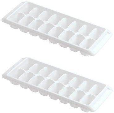 Rubbermaid -White Ice Cube Tray, 16 cube trays (Pack of 2) (Plastic Tray Ice Cube)