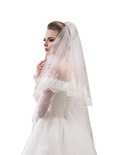 "Bridal Veil Jane from NYC Bride collection (mid-length 45"", white) by NYC Bride"