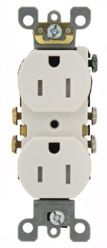 15 Amp White (Leviton T5320-WMP 15 Amp 125V Tamper Resistant Duplex Receptacle, 10-Pack, White)