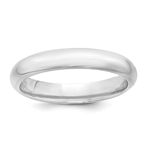 Size+10.5+Solid+925+Sterling+Silver+4mm+Comfort+Fit+Wedding+Band