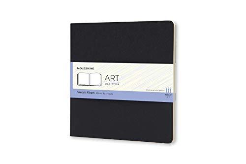 Moleskine Art Plus Soft Cover Sketch Album, Plain, Square (7.5 x 7.5) Black - Sketch Pad for Drawing, Watercolor Painting, Sketchbook for Teens, Artists, Students