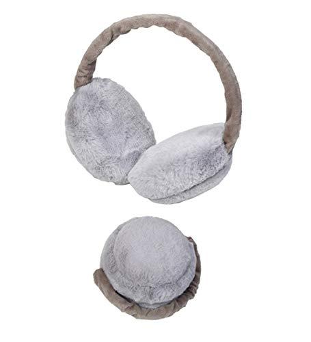 Earmuffs Headband Cute Plush Fluffy Furry Soft Warm Ear Warmers Band (E Gray)