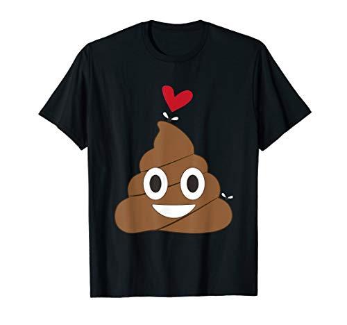 Love Poop Emoji Heart And Flies Valentine's Day T Shirt