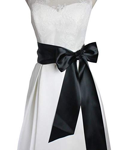 Lemandy - Cinturones para vestido de novia, hechos a mano, simples, B18 Azul azul marino Talla única: Amazon.es: Ropa y accesorios