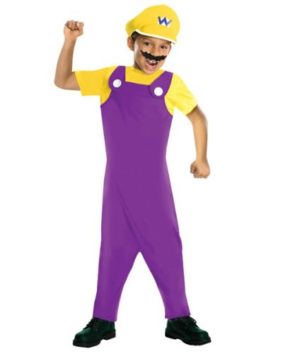 Mario Bros Costume For Toddler (Super Mario Bros Wario Child Costume)