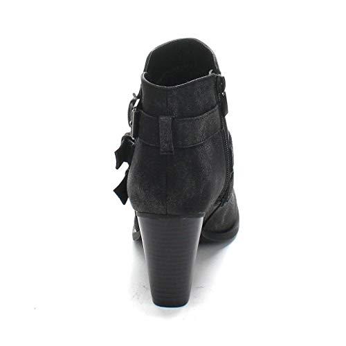 Black Block Heel Ankle Buckle Women's Booties Forever Strap xZwq0U8nt