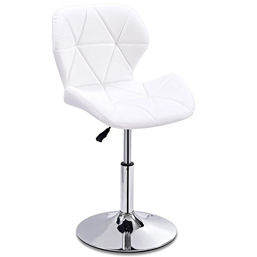 (ZJⓇ Stool Bar Kitchen Breakfast Dining Chair High Stool Can Lift Up and Down Swivel Business Hall Chair White European Style Bar Chair (Size : A))