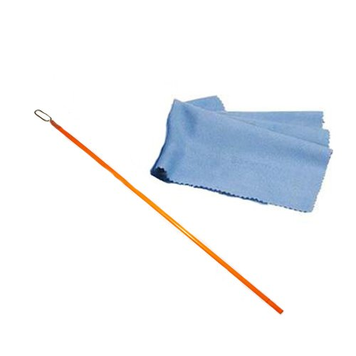 Orange Flute Cleaning Rod and Cloth Flute_Cleaning