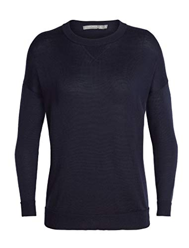 - Icebreaker Merino Women's Nova Sweater Sweatshirt, Midnight Navy, Large