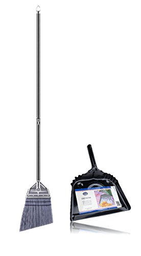 Fuller Brush Efficient Sweeping Angle Broom & Metal Dustpan Set