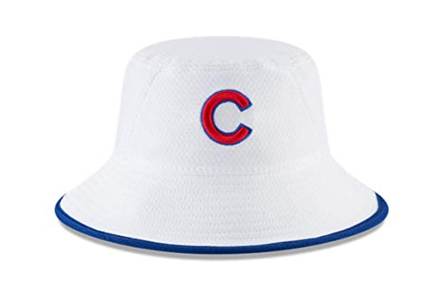 100% Authentic, NWT, MLB Chicago Cubs Hex Stretch Bucket Hat White Size: OSFM (Chicago Cubs White) (New Stretch Era)
