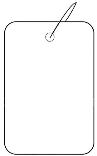 Set of 1000 New Retail White Strung Plain Price Tag 1.25'' x 1.88'' by Price Tag