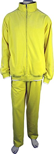 Oakland Athletics Track Jacket - Sweatsedo Mens Yellow Velour Tracksuit (Medium)