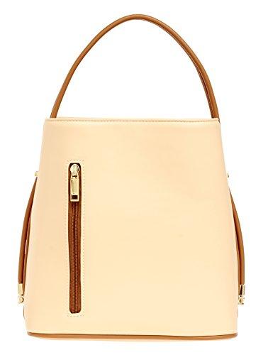 samoe-style-light-apricot-with-tan-trim-classic-convertible-handbag