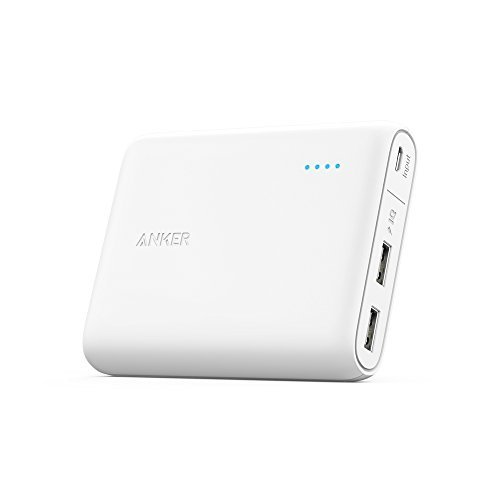 ANKER POWERCORE 13,000MAH PORTABLE DUAL USB POWERBANK WHITE
