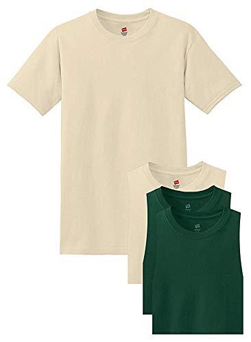 Hanes Mens 6-Pack FreshIQ Crew T-Shirt