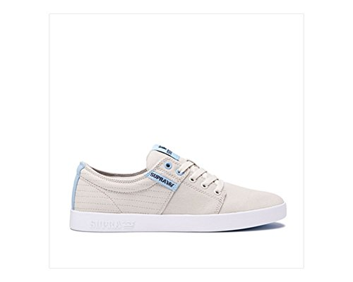 Supra Mens Stacks Ii Skate Chaussure Point Dos Blanc