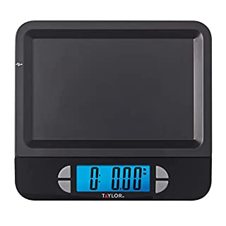 Taylor Precision Products USB Digital LCD Kitchen Scale, 11 pound capacity, Black