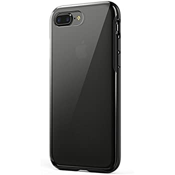 iPhone 8 Plus Case, iPhone 7 Plus Case, Anker KARAPAX Ice Case, Semi-Transparent Hard Back and Soft Bumper [Support Wireless Charging] for iPhone 8 Plus (2017) / iPhone 7 Plus (2016) - Black