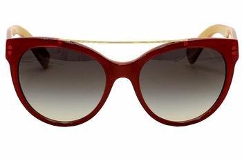 Dolce & Gabbana Women's 0dg4280 Round Sunglasses, Top Red on Gold, 57 - Candies Prescription Sunglasses
