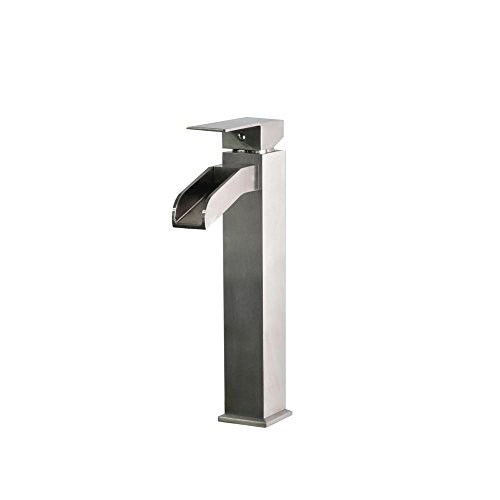 Belle Foret Single Hole - Belle Foret Single Hole 1-Handle High-Arc Bathroom Faucet in Stainless Steel