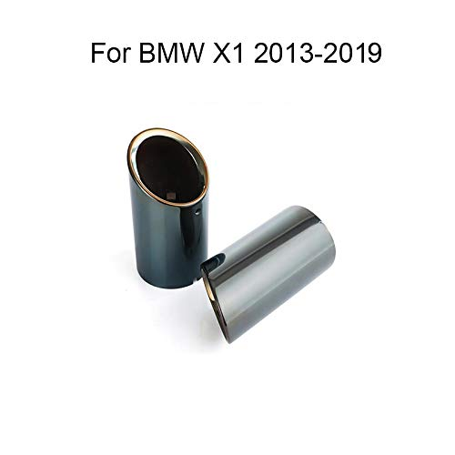 - Momoap 2Pcs Car Stainless Steel Tailpipe Trims Exhaust Muffler Tail Pipe Tip for BMW X1 2013-2019