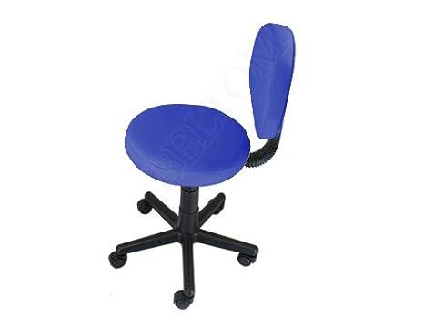 Sgabello con schienale pedicure manicure per lettino massaggio