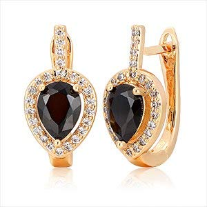 6colors Pear AAA Cz W/White Cz Aroundgold Color Teardrop Huggies Small Hoop Earrings for Women Jewelry Boucle D