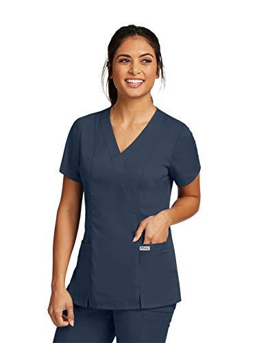 (Grey's Anatomy Womens Scrubs, Steel, Large)