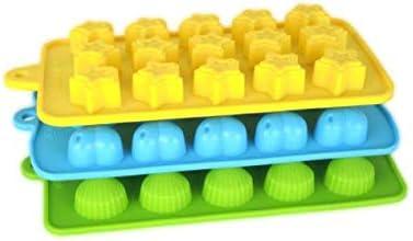 f/ür Eisw/ürfel Voarge 3er Set in verschiedenen Formen Eisw/ürfelform Spa/ß Kinder Spielzeug Set S/ü/ßigkeiten Herzen Sterne und Muschel Silikon Schokoladenform Schokolade