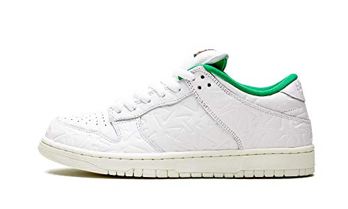 Sb Dunk Low Og Sq 2 (White/White-Lucid Green-Sail 11)