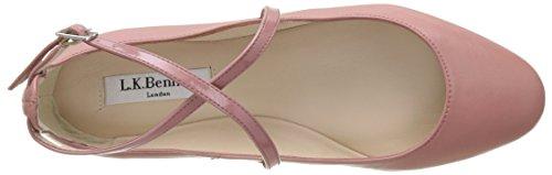Lk Bennett Dames Nessie Gesloten Ballerinas Roze (donker Roze)