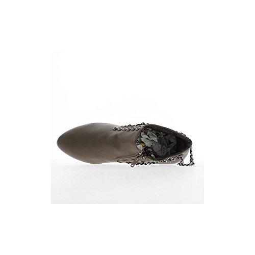 Bottines basses femme taupes à petits talons de 3,5cm