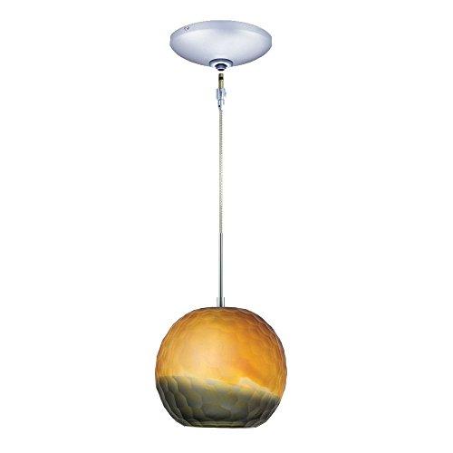 Jesco Lighting KIT-QAP409-BZSMCH 1-Light Low Voltage Pendant and Canopy Kit with Chrome Socket, Bronze/Smoke For Sale