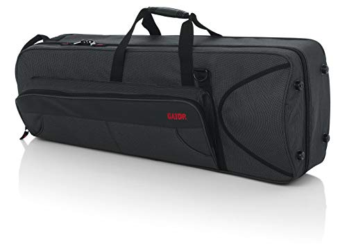Gator Cases Lightweight Polyfoam Trombone Case with Removable Strap and Rubber Interlocking Carry Handle; (GL-TROMBONE-F)