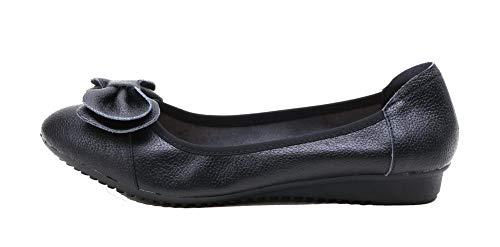Unie Aalardom Légeres Talon À Chaussures Bas Rond Cuir Tsfdg008368 Noir Femme Couleur Tire Pu xqXqCf6r