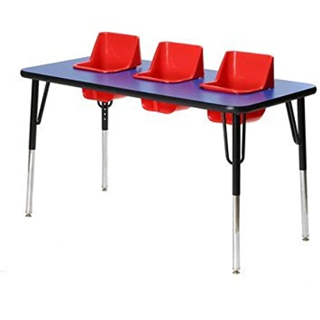 Kid S Toddler Table Seat Color Red Table Top Color Royal Blue