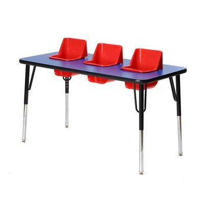Kid's Toddler Table Seat Color: Red, Table Top Color: Royal Blue (In Table Built Chairs With)