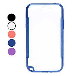 YXF Simple Style Hard Case for Samsung Galaxy Note 2 N7100 (Assorted Colors) , Black