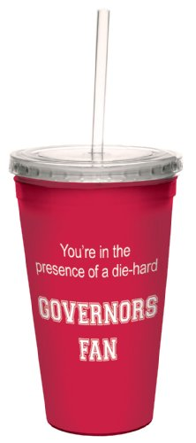 Tree-Free Greetings cc34636 Governors College Basketball Artful Traveler Double-Walled Cool Cup with Reusable Straw, 16-Ounce ()